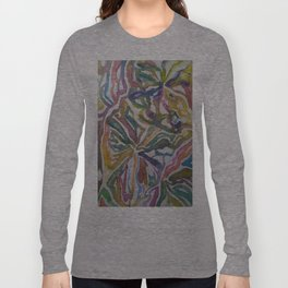Abstract Flowers Watercolor Painting Long Sleeve T-shirt