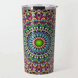Happy Garden Mandala Travel Mug