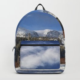 Winter Rocky Mountain Park Panorama Backpack
