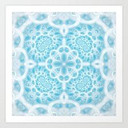 Blue Square Mandala Art Print