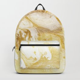 Golden Marble Abstract II Backpack