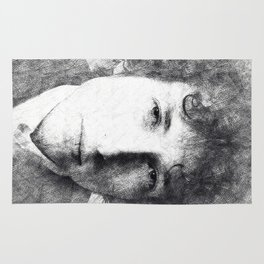 Bob Dylan portrait 03 Rug