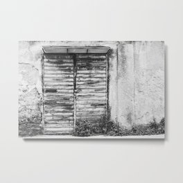 Abandoned shop forgotten bw Metal Print