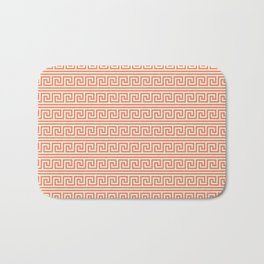 Yellow & Red Meander Pattern Bath Mat
