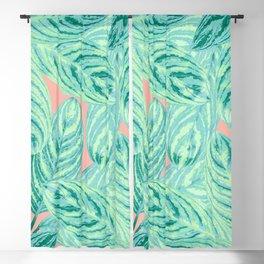 Tropical Leaves Vibes #3 #tropical #foliage #decor #art #society6 Blackout Curtain