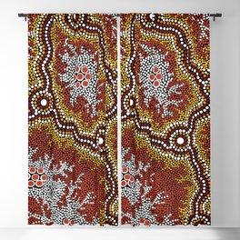 Aboriginal Art Authentic - Bushland Dreaming Ppart 2 Blackout Curtain