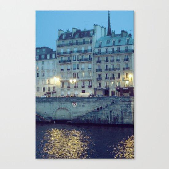 Paris by Night: Ile de la Cite Canvas Print