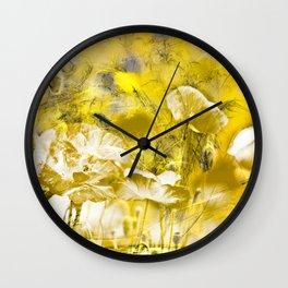 Wild poppy abstract-2 Wall Clock
