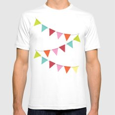 Hooray for girls! SMALL White Mens Fitted Tee