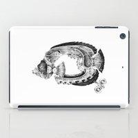 clockwork iPad Cases featuring clockwork fish by vasodelirium