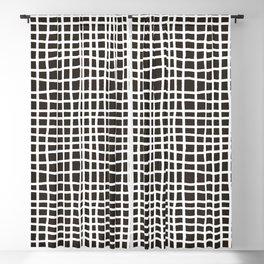 chocolate brown random cross hatch lines checker pattern Blackout Curtain