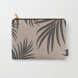Palm Leaves Pattern Sepia Vibes #1 #tropical #decor #art #society6 Carry-All Pouch