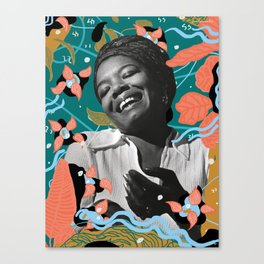 Maya Angelou for #TimesUpNow Canvas Print