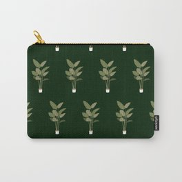 Green Indoor Plant Pattern Carry-All Pouch