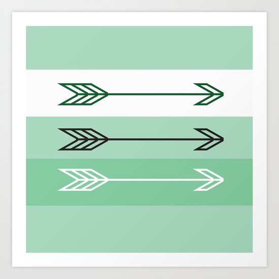 Arrows 3 Mint Art Print