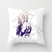 lana Throw Pillows featuring Lana by Pesim0