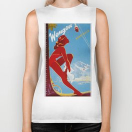 Wengen Switzerland - Vintage Travel Biker Tank