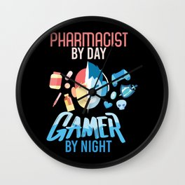 Pharmacist By Day Gamer By Night Wall Clock