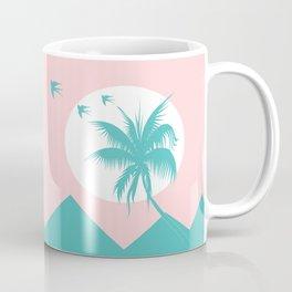 mountains and palm Coffee Mug