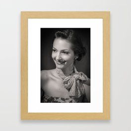 A Collection Of Her Smiles Framed Art Print