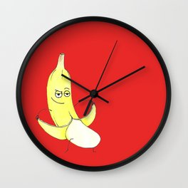 Inappropriate Banana Wall Clock