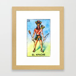 El Apache Mexican Loteria Bingo Card Framed Art Print