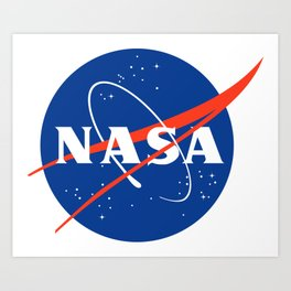 NASA logo Space Agency Astronaut Art Print
