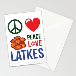 Peace Love Latkes Stationery Cards
