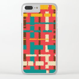 Colorful line segments Clear iPhone Case