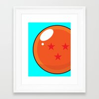 dragonball Framed Art Prints featuring Sacred Dragonball by Hussein Ibrahim