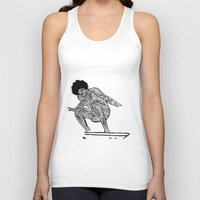 70s Tank Tops featuring 70s surfer by terezamc.