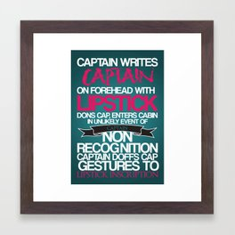 Captain Crieff. Framed Art Print