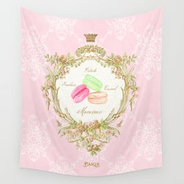French Patisserie Macarons Wall Tapestry