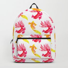 Tropical Fish Pattern (red and yellow palette) Backpack
