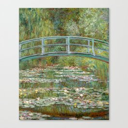 "Claude Monet ""Bridge over a Pond of Water Lilies"" Canvas Print"