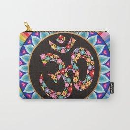 Flowery Om Mandala Carry-All Pouch