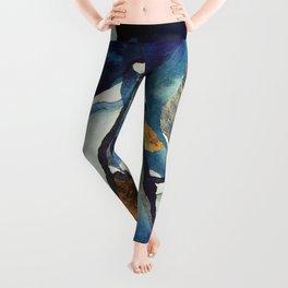 Cobalt Abstract Leggings