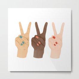Peace Hands Metal Print