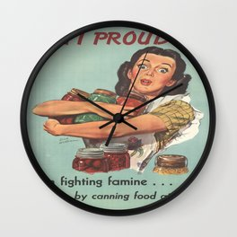 Vintage poster - Am I Proud? Wall Clock