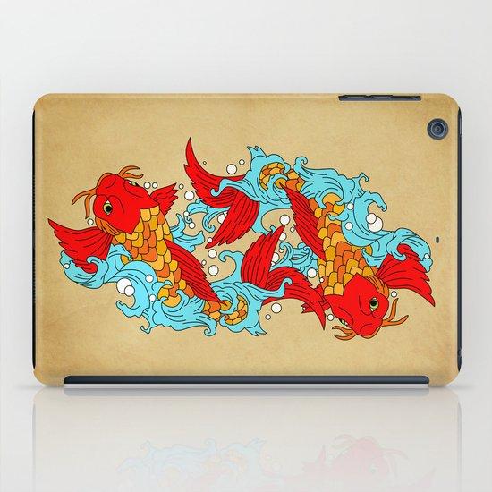 gold fish iPad Case