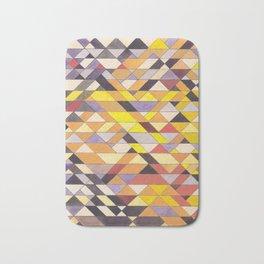 Triangle Pattern No.8 Black and Yellow Bath Mat