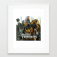 transformers Framed Art Prints featuring Transformers by giftstore2u