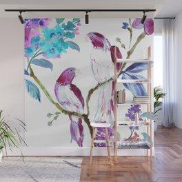bird tropics floral Wall Mural