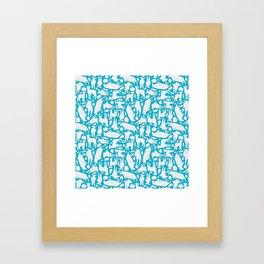 Cloudy sheep Framed Art Print