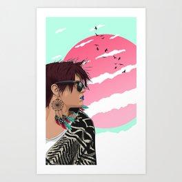 Feather dreams Art Print