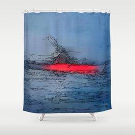 Wilderness Kayaker Shower Curtain