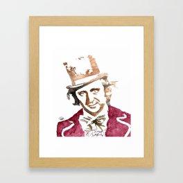 """So Shines A Good Deed..."" Willy Wonka - 2016 Framed Art Print"
