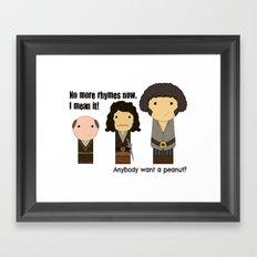 Anybody want a peanut? Framed Art Print