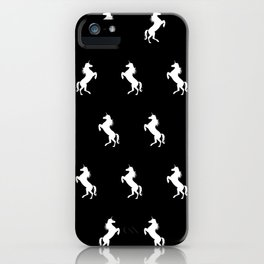 Black And White Unicorns iPhone Case