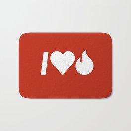 I Love Fire Bath Mat